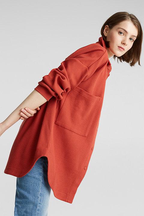Textured shirt jacket made of stretch jersey