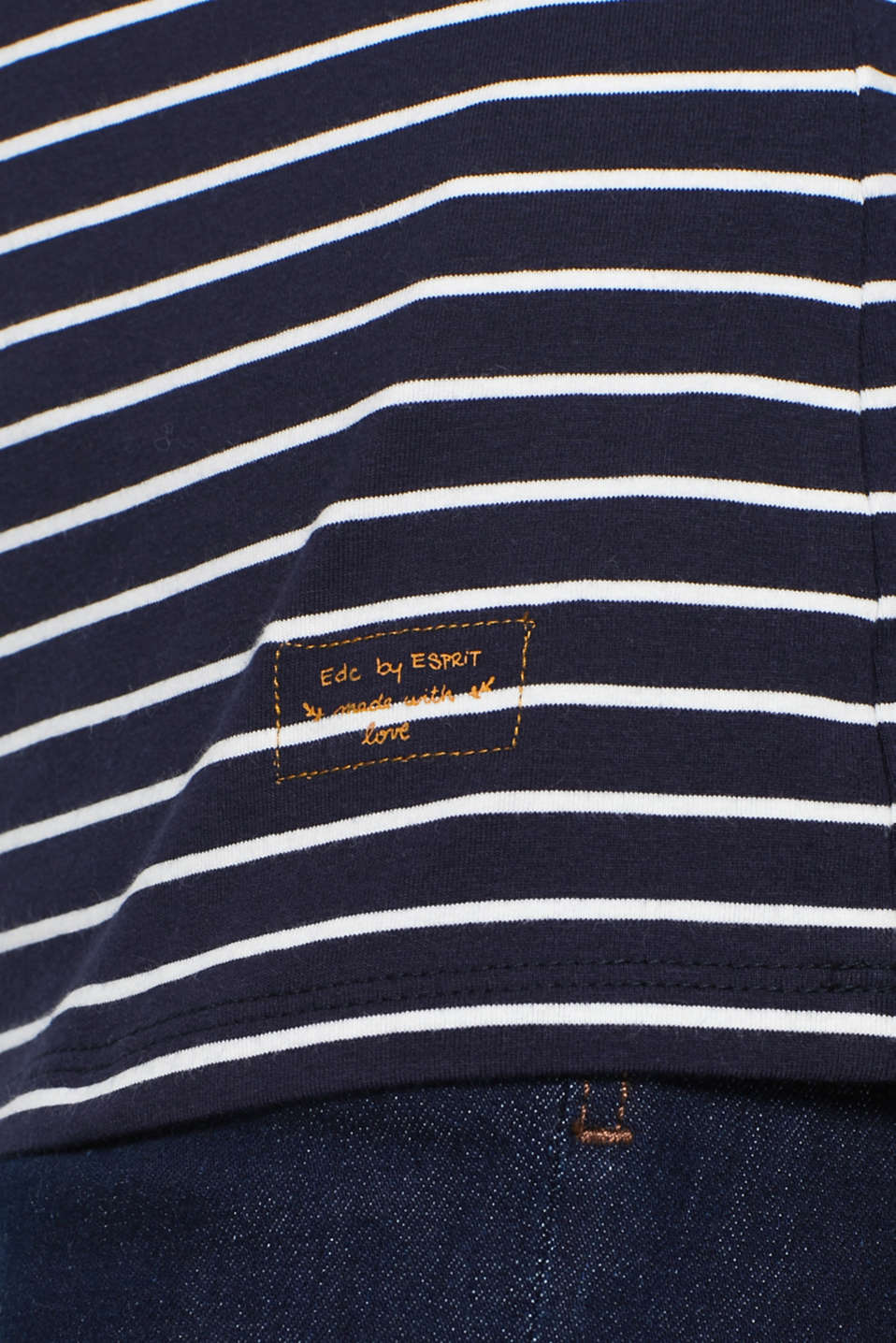 Long sleeve top with organic cotton, NAVY 4, detail image number 2