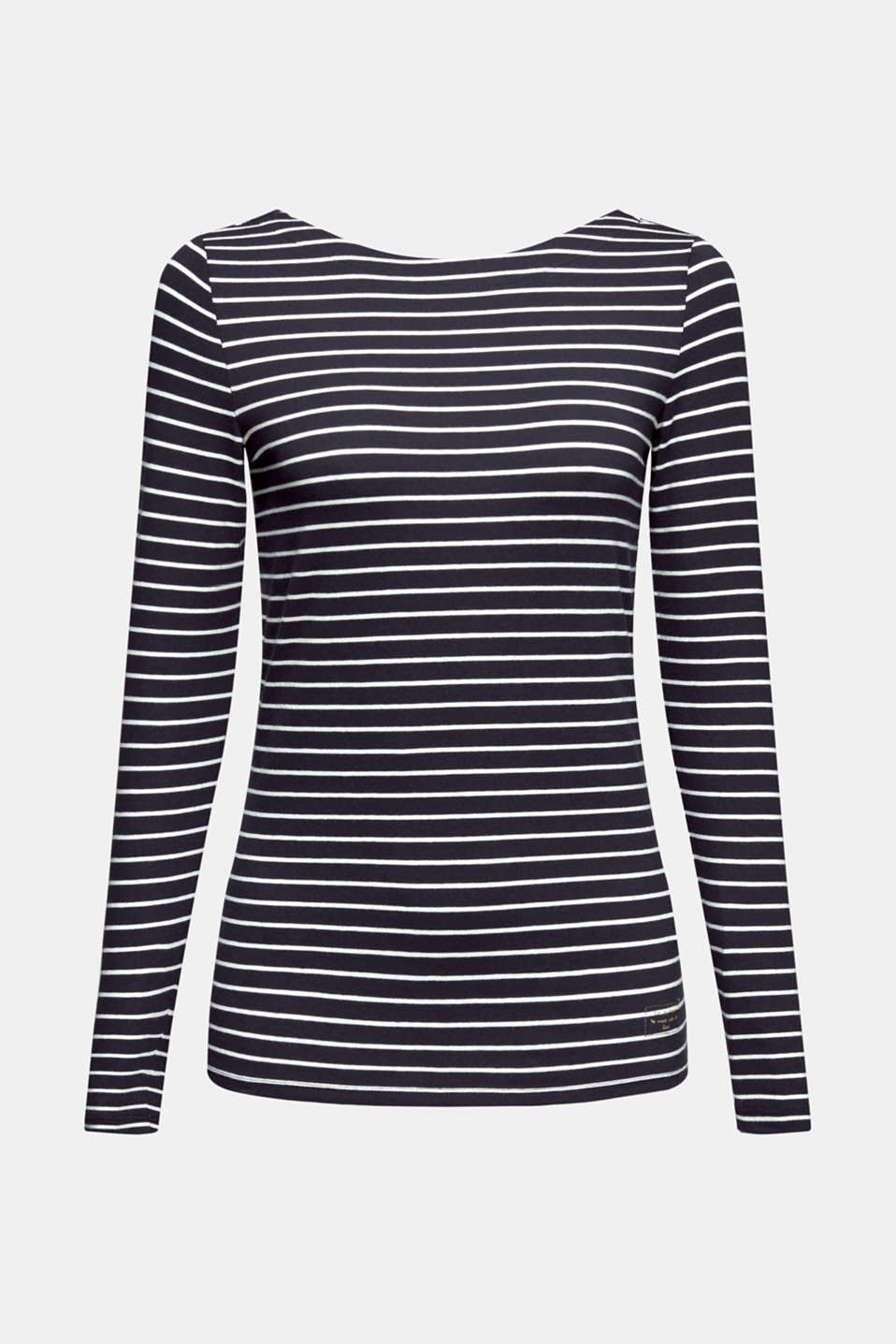 Long sleeve top with organic cotton, NAVY 4, detail image number 6