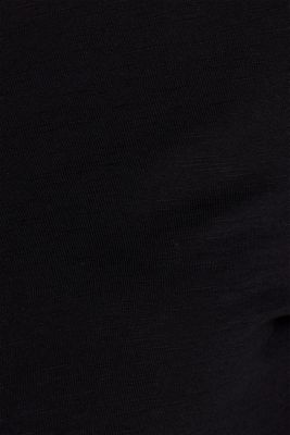Henley long sleeve top with organic cotton, BLACK, detail