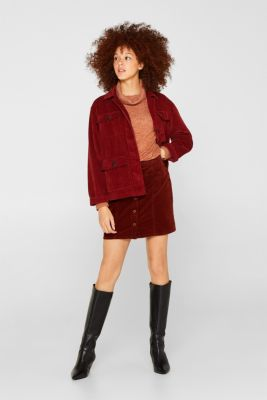 Fluffy long sleeve top with a polo neck, RUST BROWN 5, detail