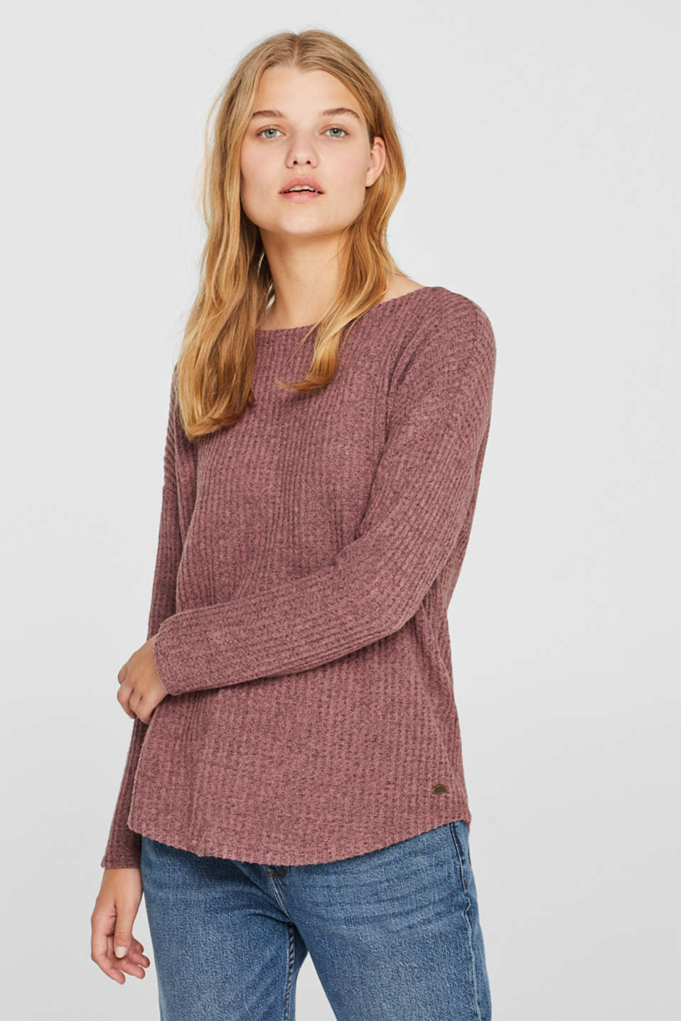 edc - Fluffy, textured long sleeve top