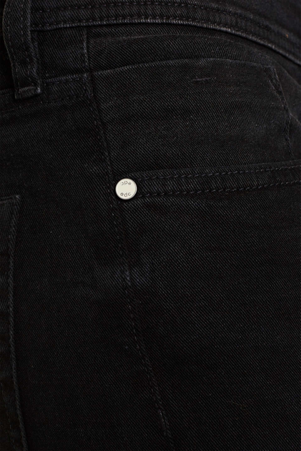 Stretch jeans with washed-out effects, BLACK DARK WASH, detail image number 5