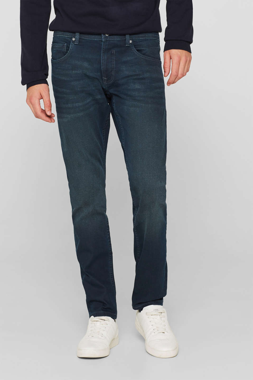 edc - Stretch-Jeans mit Coating