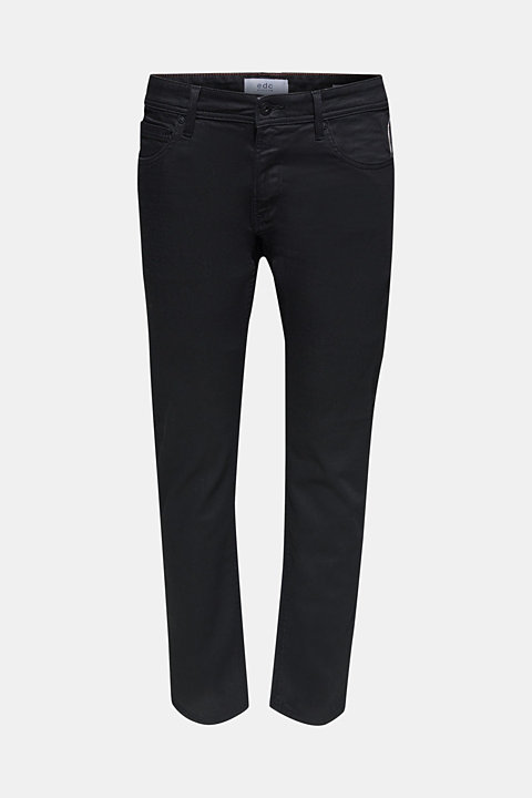 Stretch jeans in a coated finish