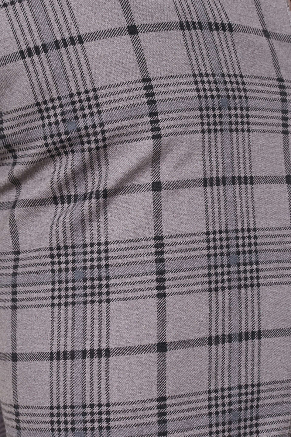 Stretch trousers with a checked pattern, DARK GREY, detail image number 4