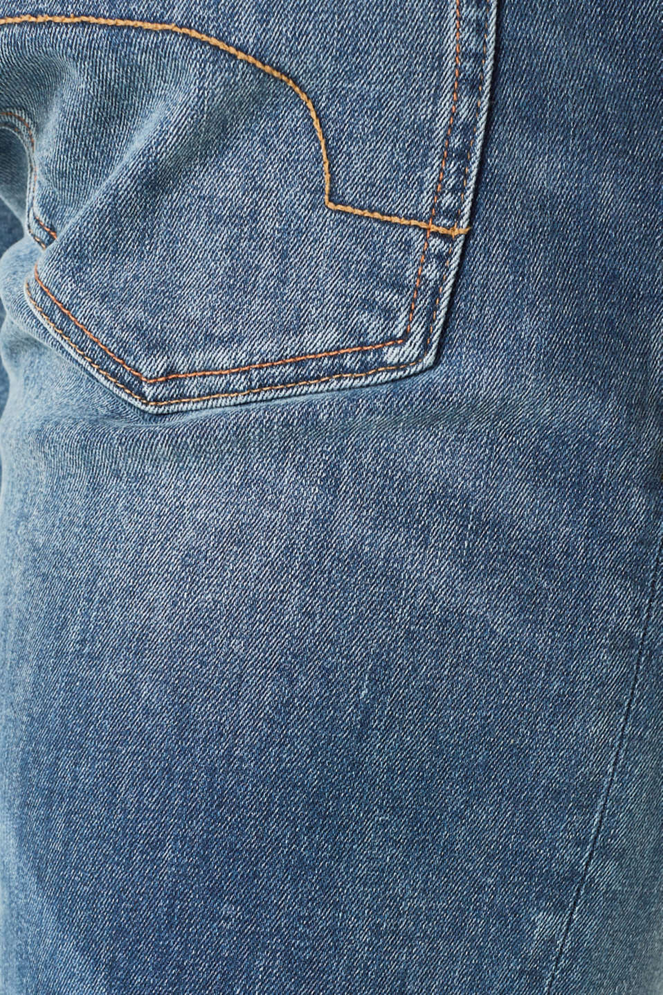Stretch jeans in a patchwork look, BLUE MEDIUM WASH, detail image number 4