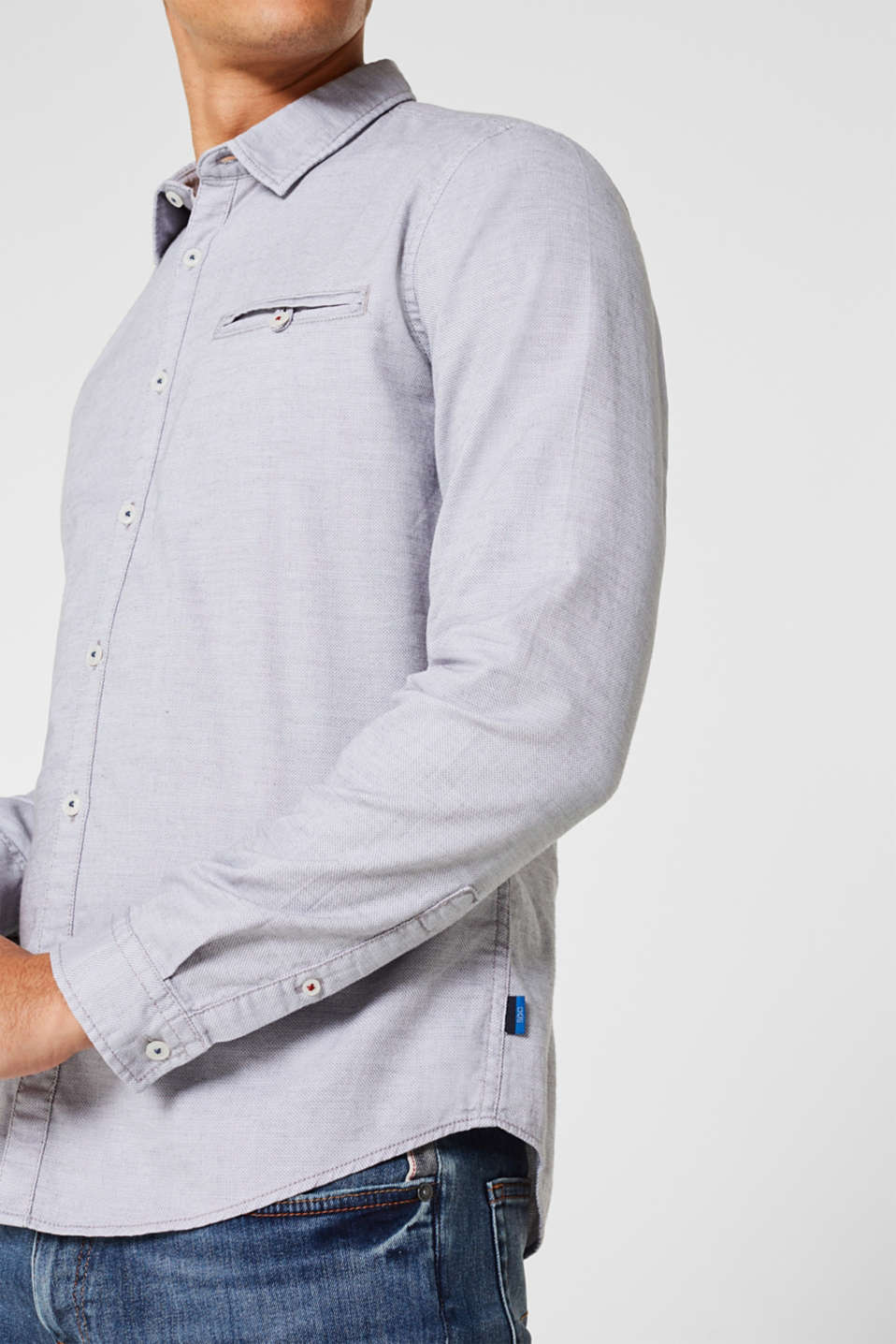 Shirts woven Slim fit, GREY, detail image number 2