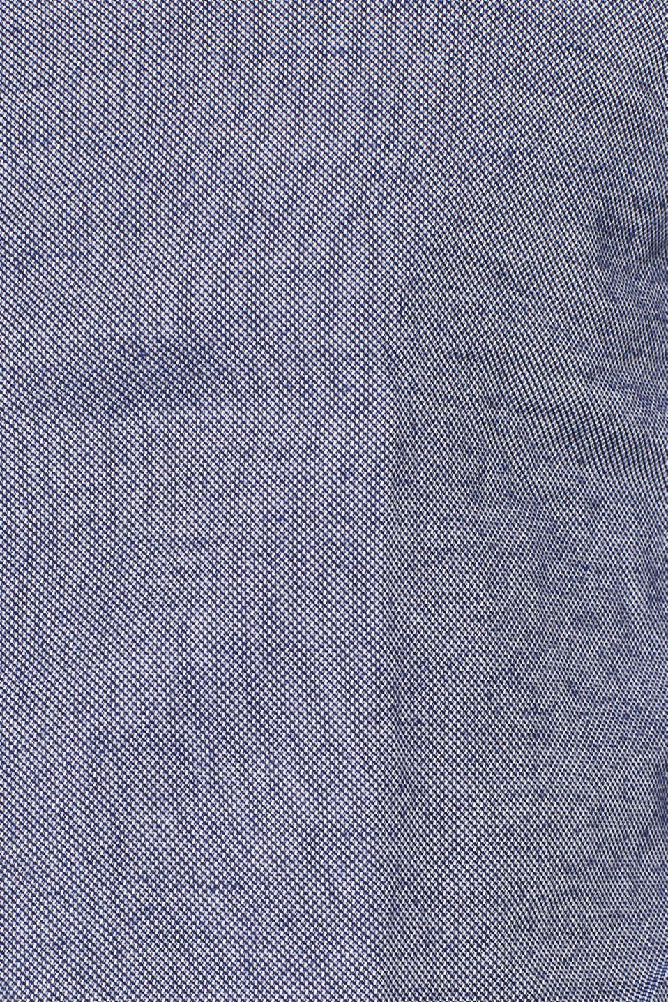 Finely textured shirt, 100% cotton, NAVY, detail image number 4