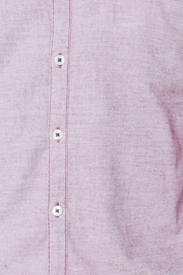 Finely textured shirt, 100% cotton, BERRY RED, detail
