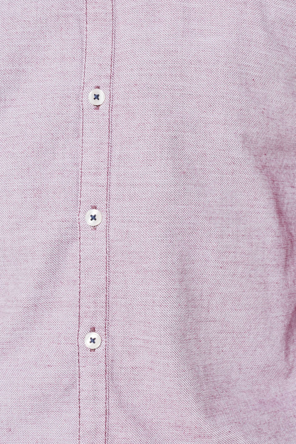 Finely textured shirt, 100% cotton, BERRY RED, detail image number 4