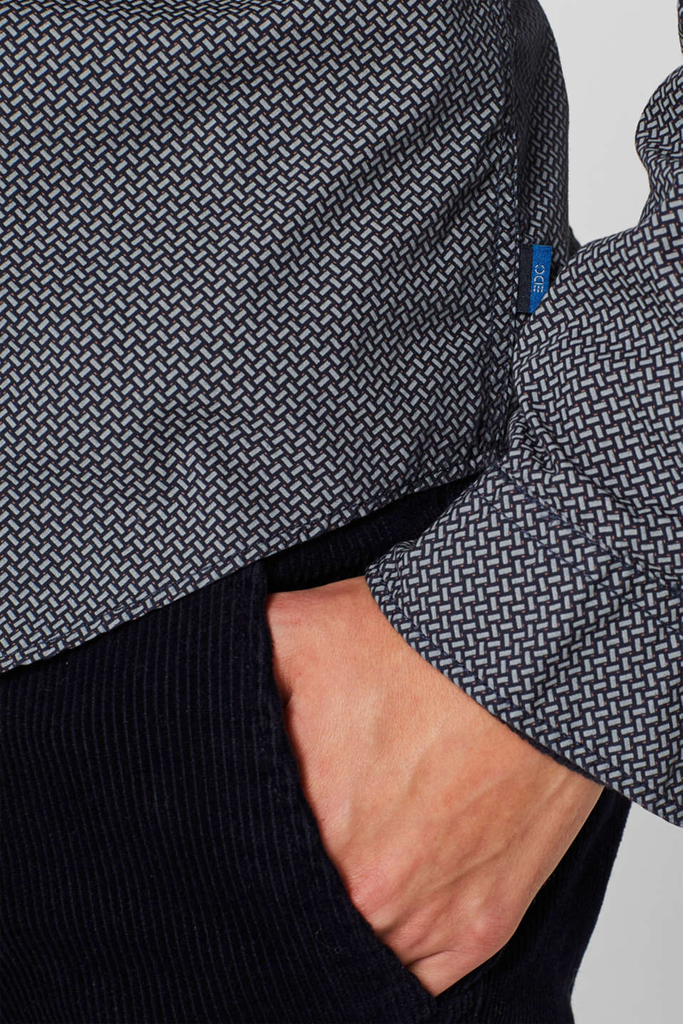 Shirt with an all-over print, 100% cotton , NAVY, detail image number 5