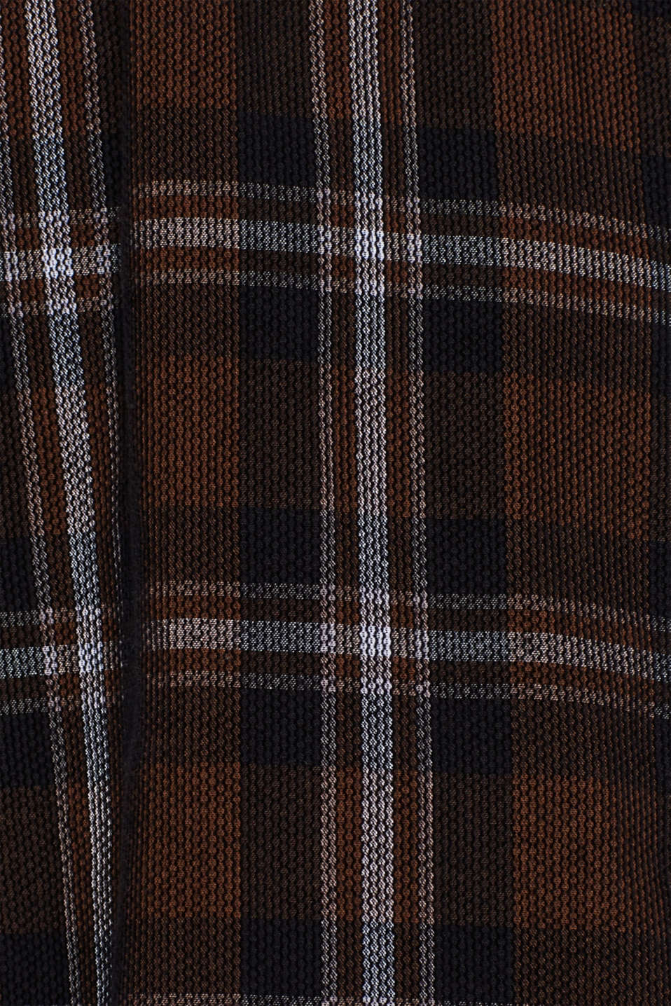 Corduroy top with a check pattern, 100% cotton, GREY, detail image number 4