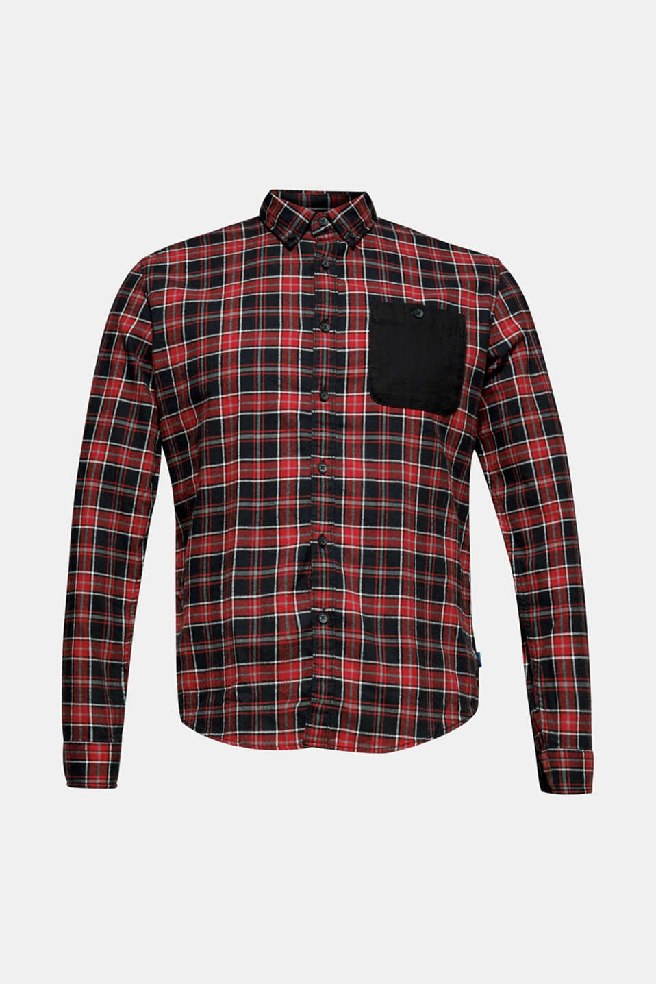 Check flannel top made of 100% cotton, BLACK, detail image number 6