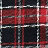 Check flannel top made of 100% cotton, BLACK, swatch