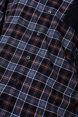 Check flannel top made of 100% cotton