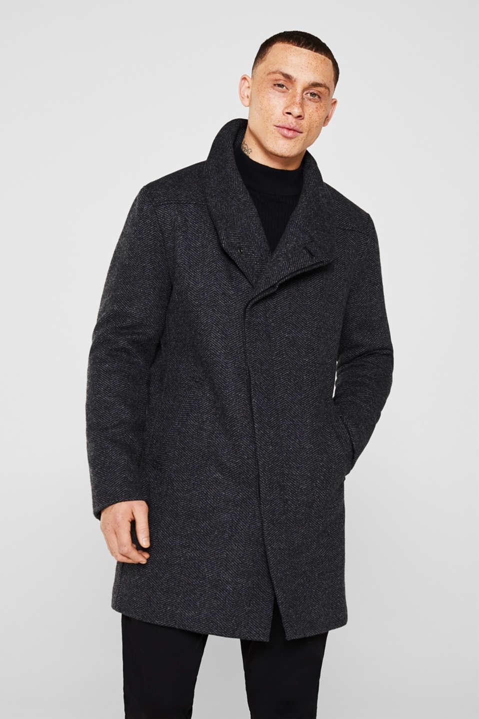 Coats woven, DARK GREY, detail image number 0