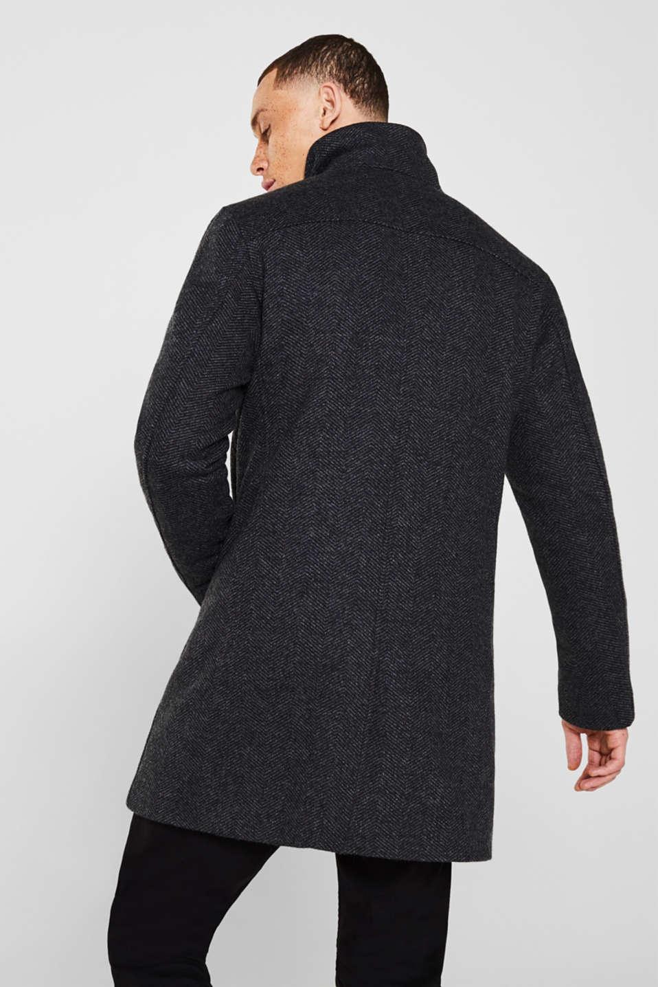 Coats woven, DARK GREY, detail image number 3