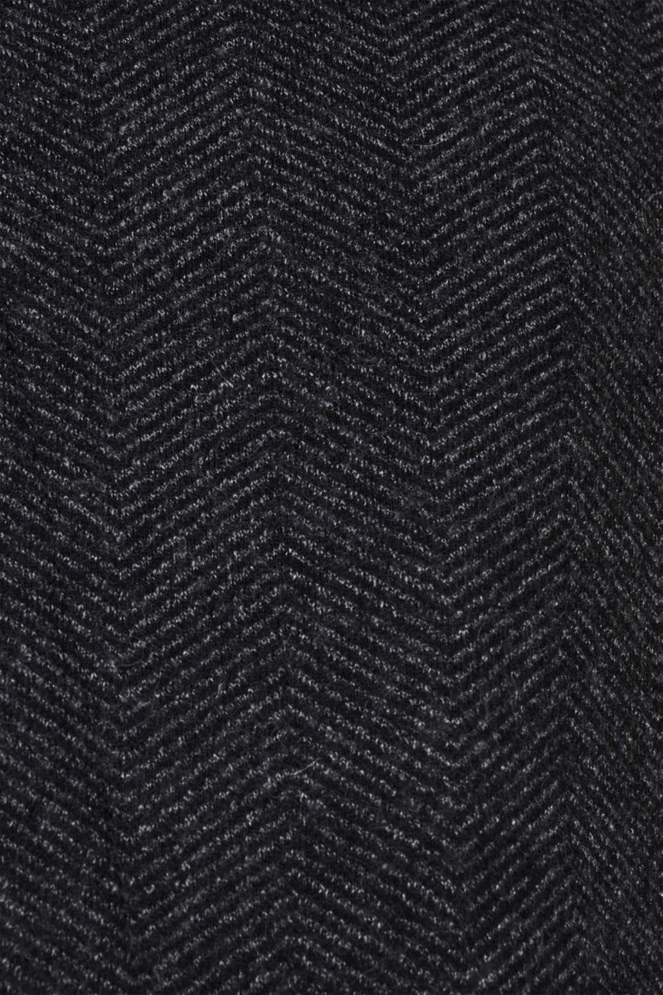 Coats woven, DARK GREY, detail image number 4