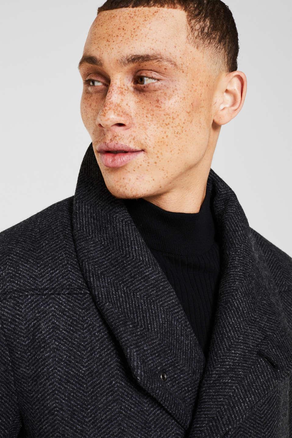 Coats woven, DARK GREY, detail image number 5