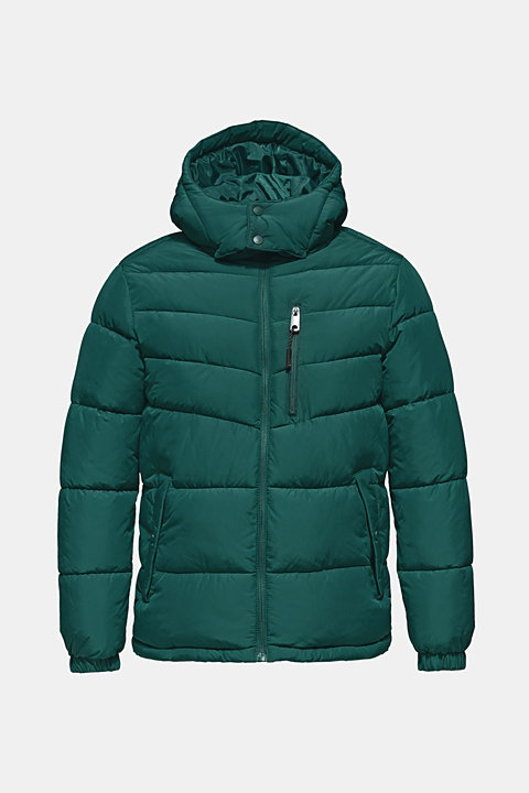 Quilted jacket with detachable hood