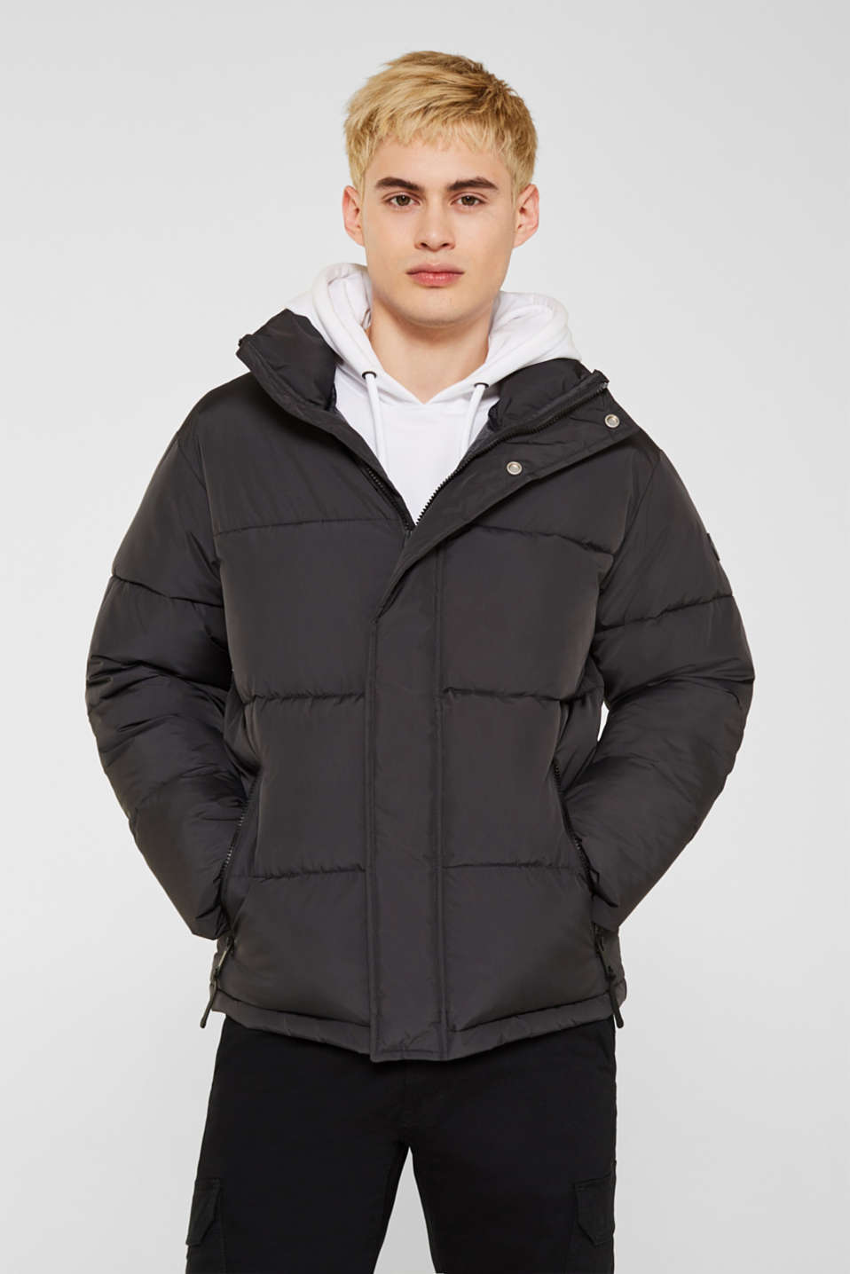 edc - Quilted jacket with a high collar
