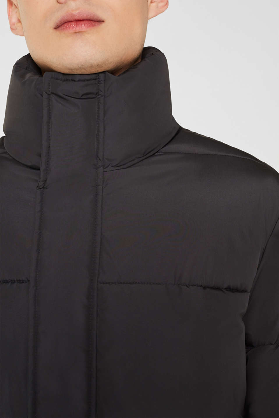 Quilted jacket with a high collar, GREY, detail image number 2