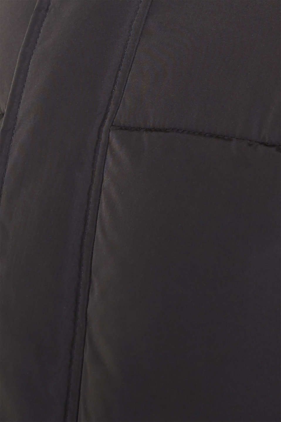 Quilted jacket with a high collar, GREY, detail image number 5