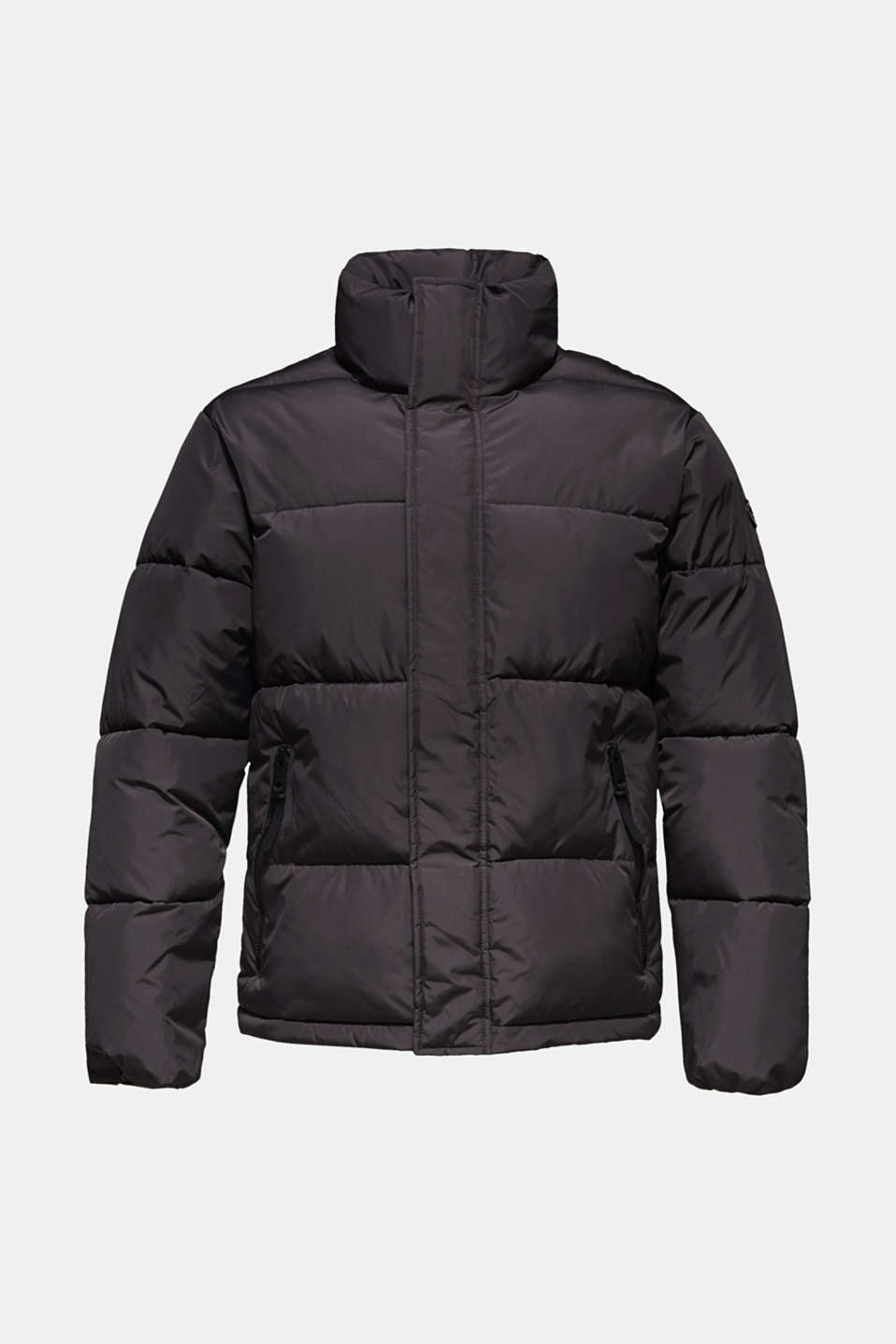 Quilted jacket with a high collar, GREY, detail image number 7