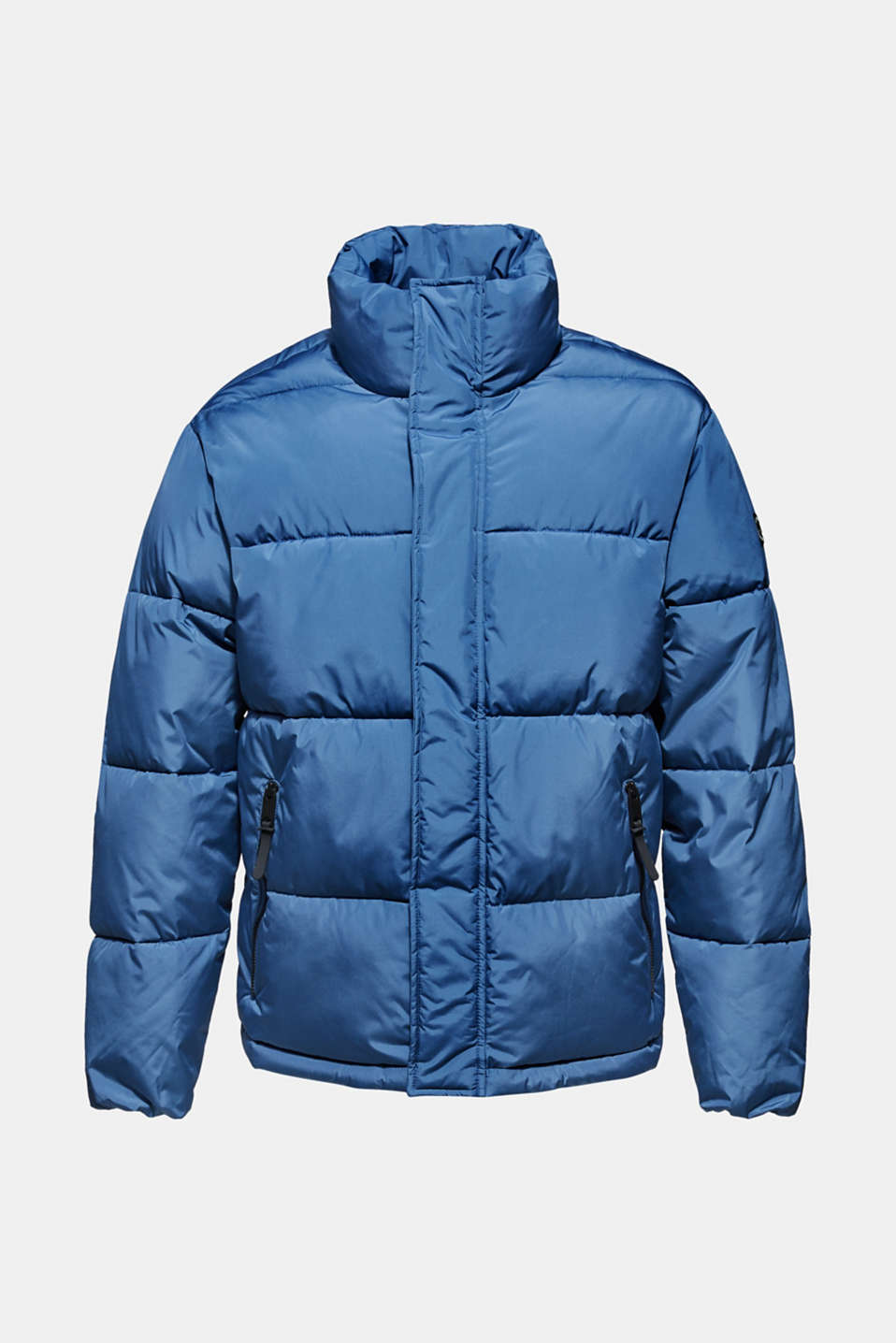 Quilted jacket with a high collar, BLUE, detail image number 6