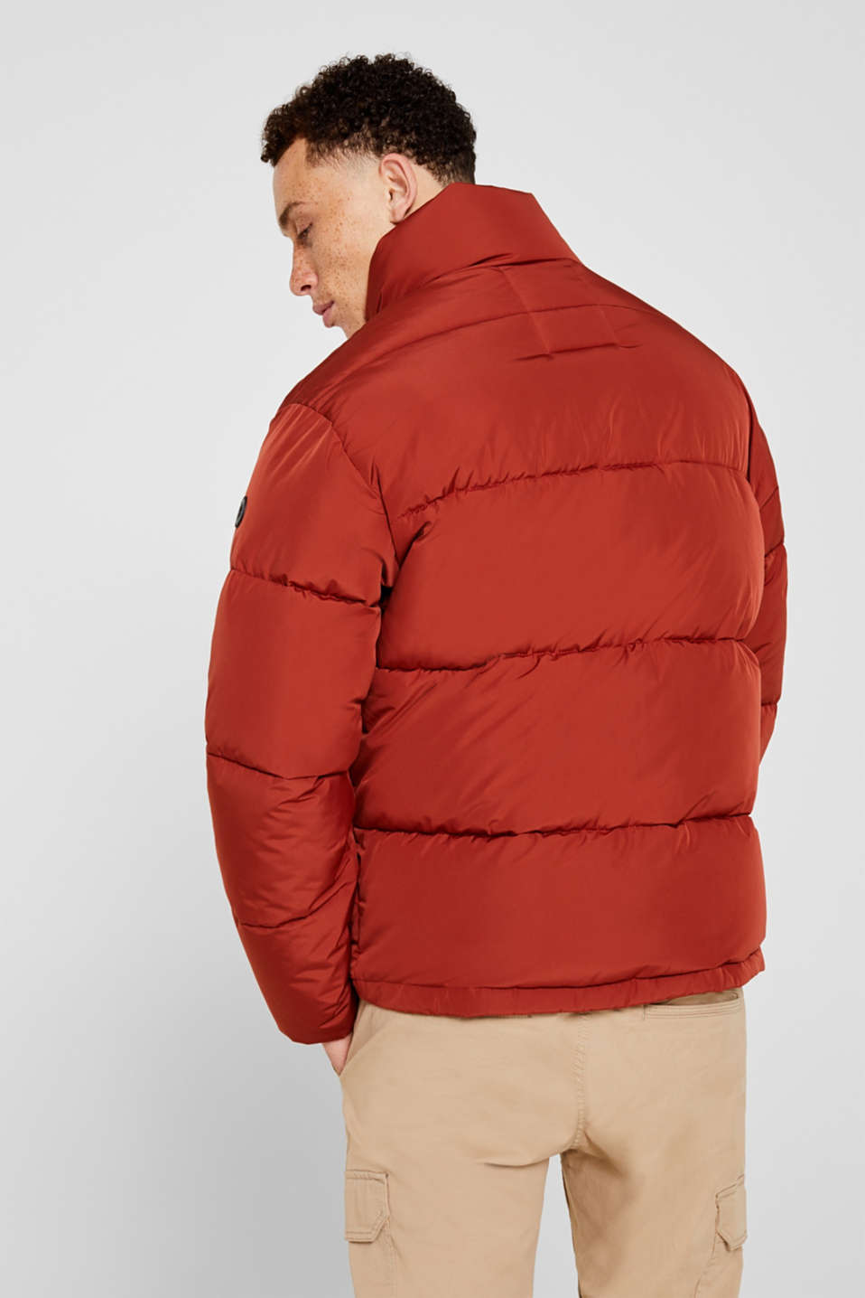 Quilted jacket with a high collar, RUST ORANGE, detail image number 3