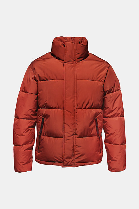 Quilted jacket with a high collar
