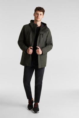 With wool: Padded parka, KHAKI GREEN, detail