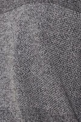 Jumper with textured stripes, 100% cotton, MEDIUM GREY, detail