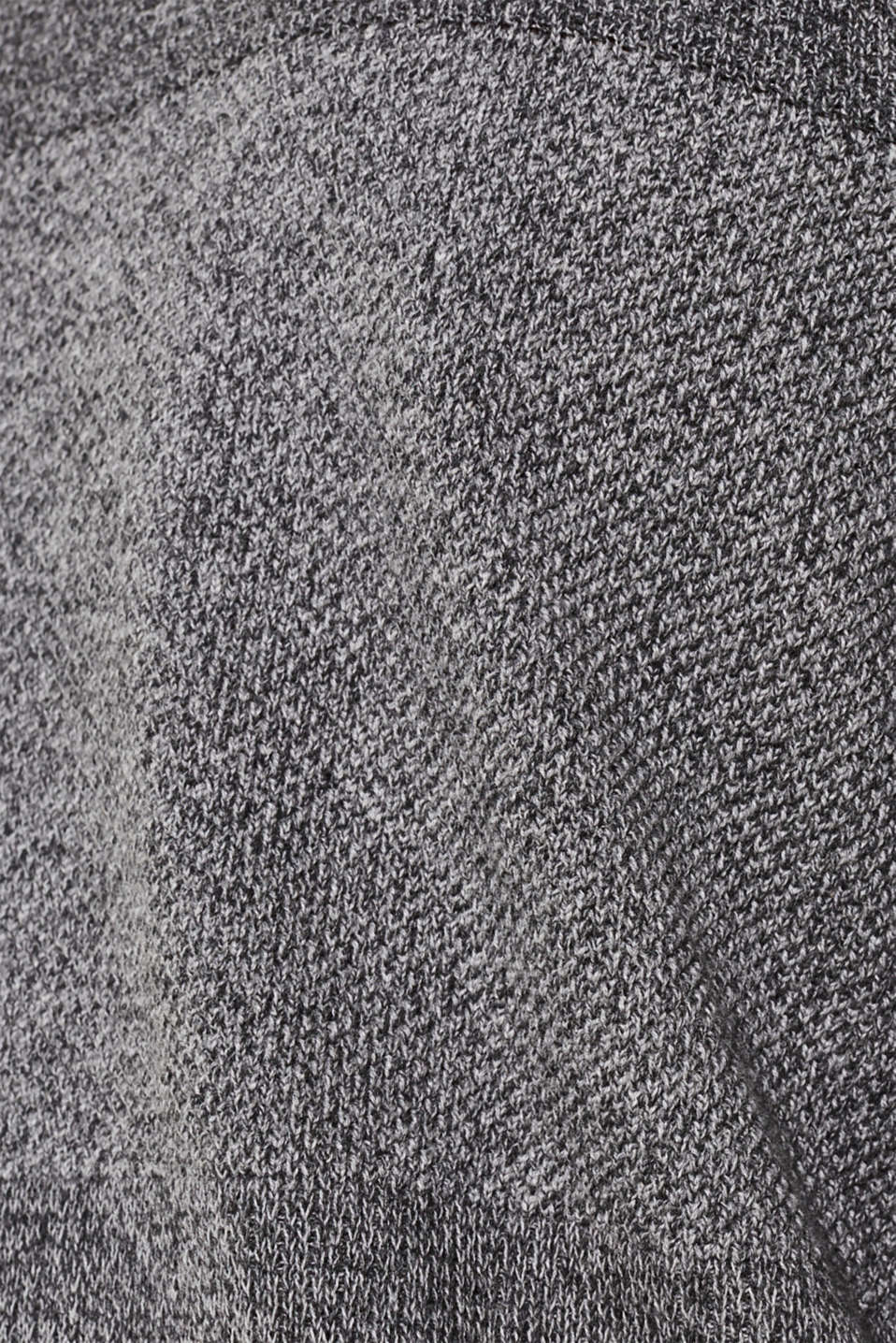 Jumper with textured stripes, 100% cotton, MEDIUM GREY, detail image number 3