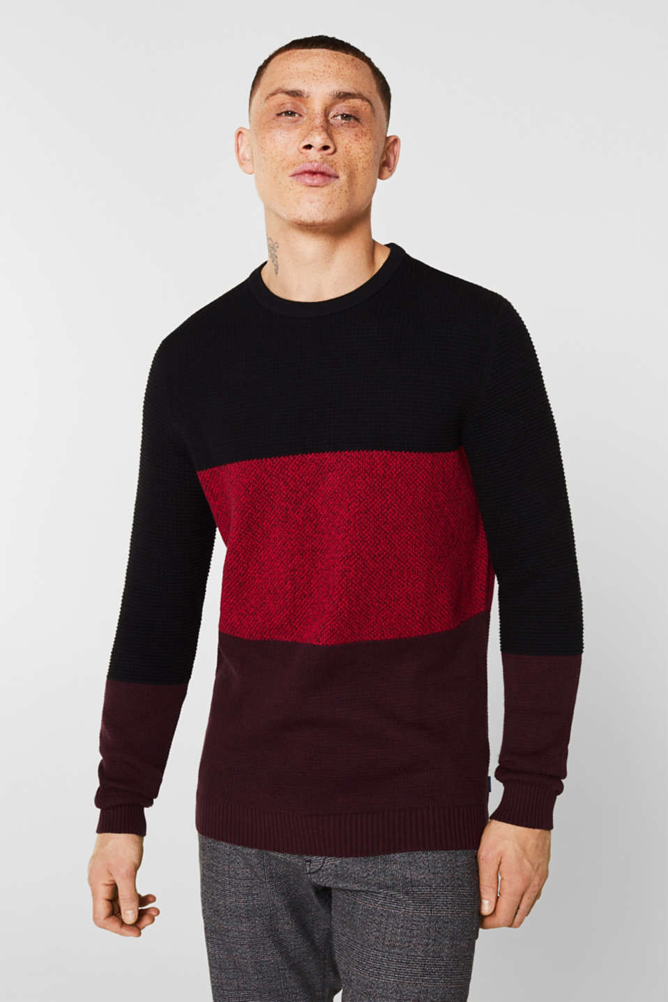 Sweaters, BORDEAUX RED, detail image number 0