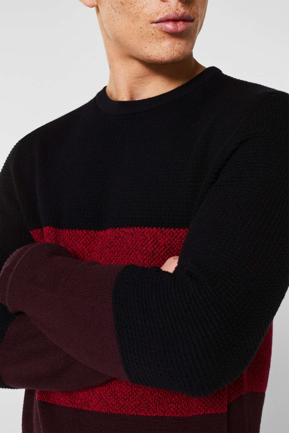 Sweaters, BORDEAUX RED, detail image number 2