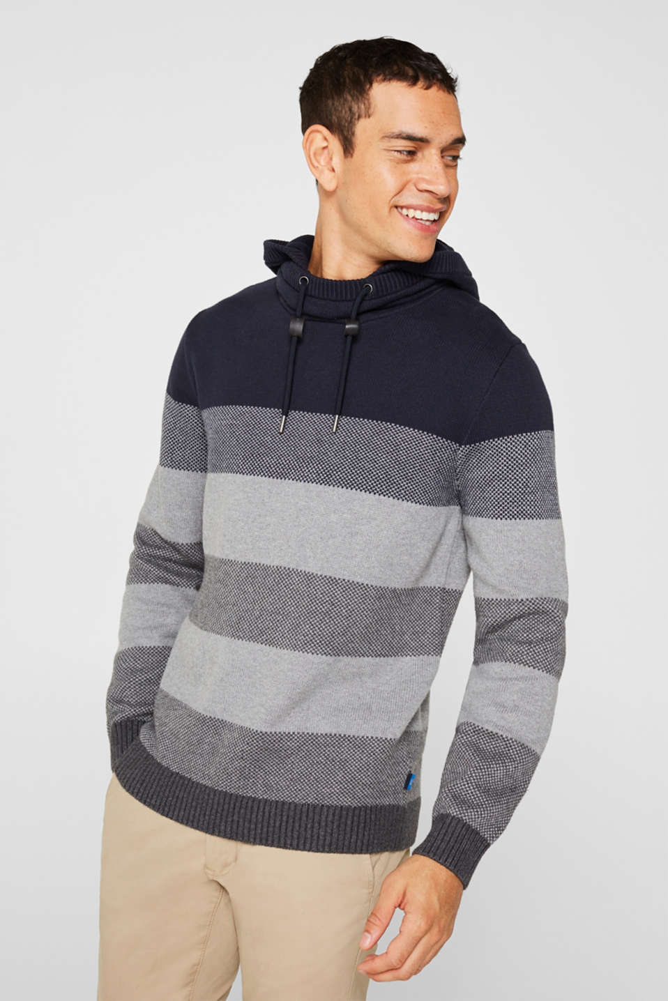 edc - Knitted hoodie in 100% cotton