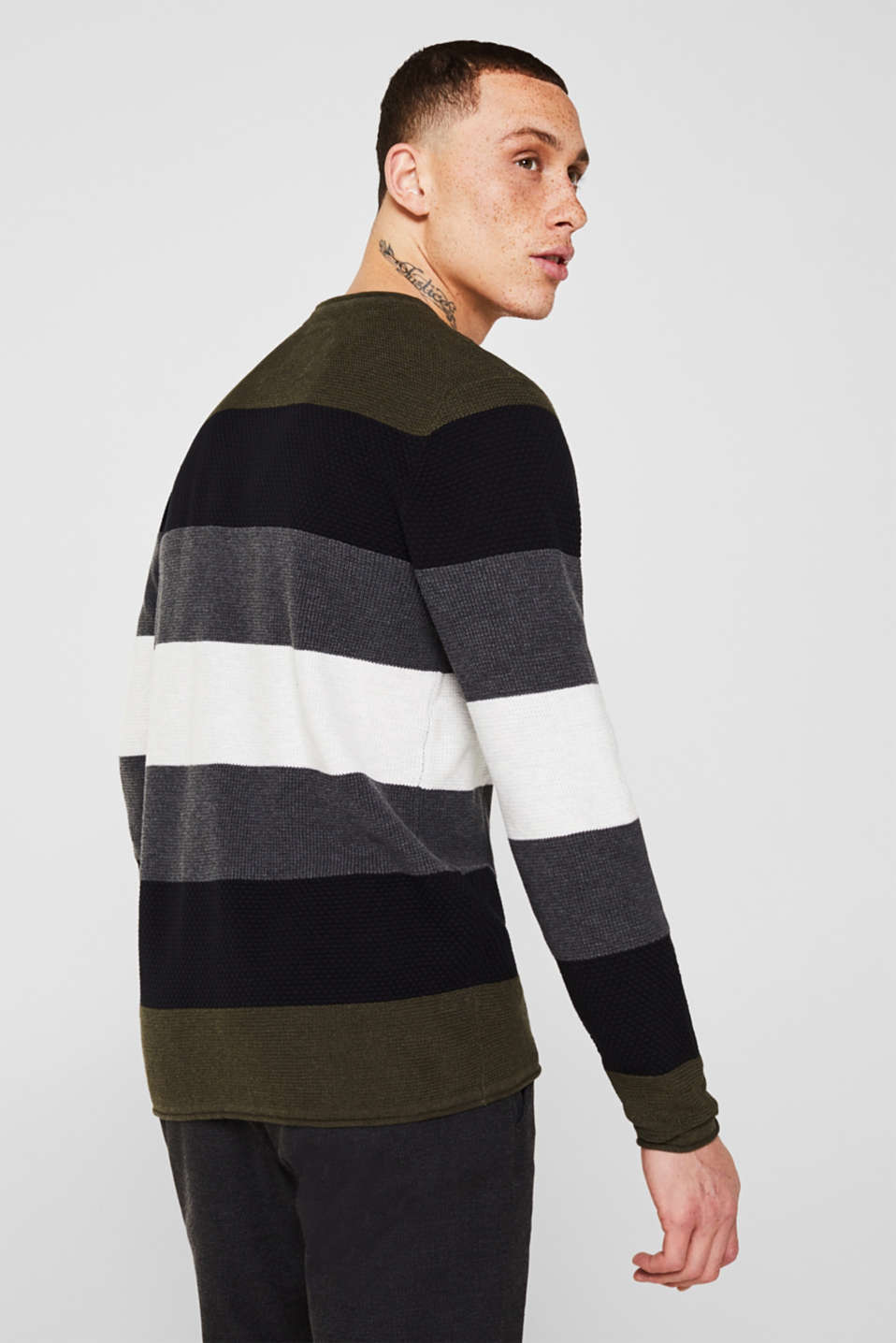 Sweaters, KHAKI GREEN, detail image number 3