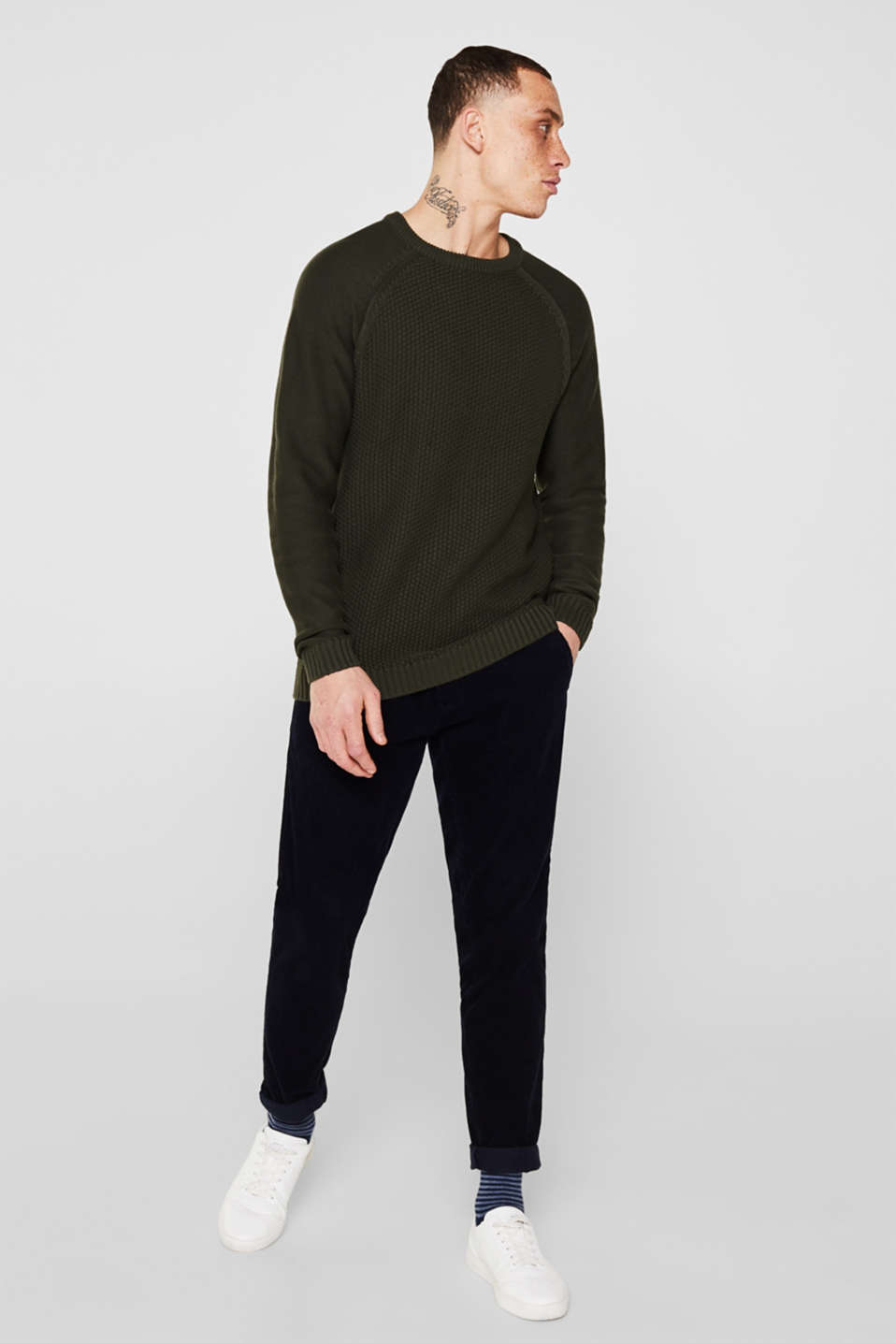Sweaters, KHAKI GREEN, detail image number 8