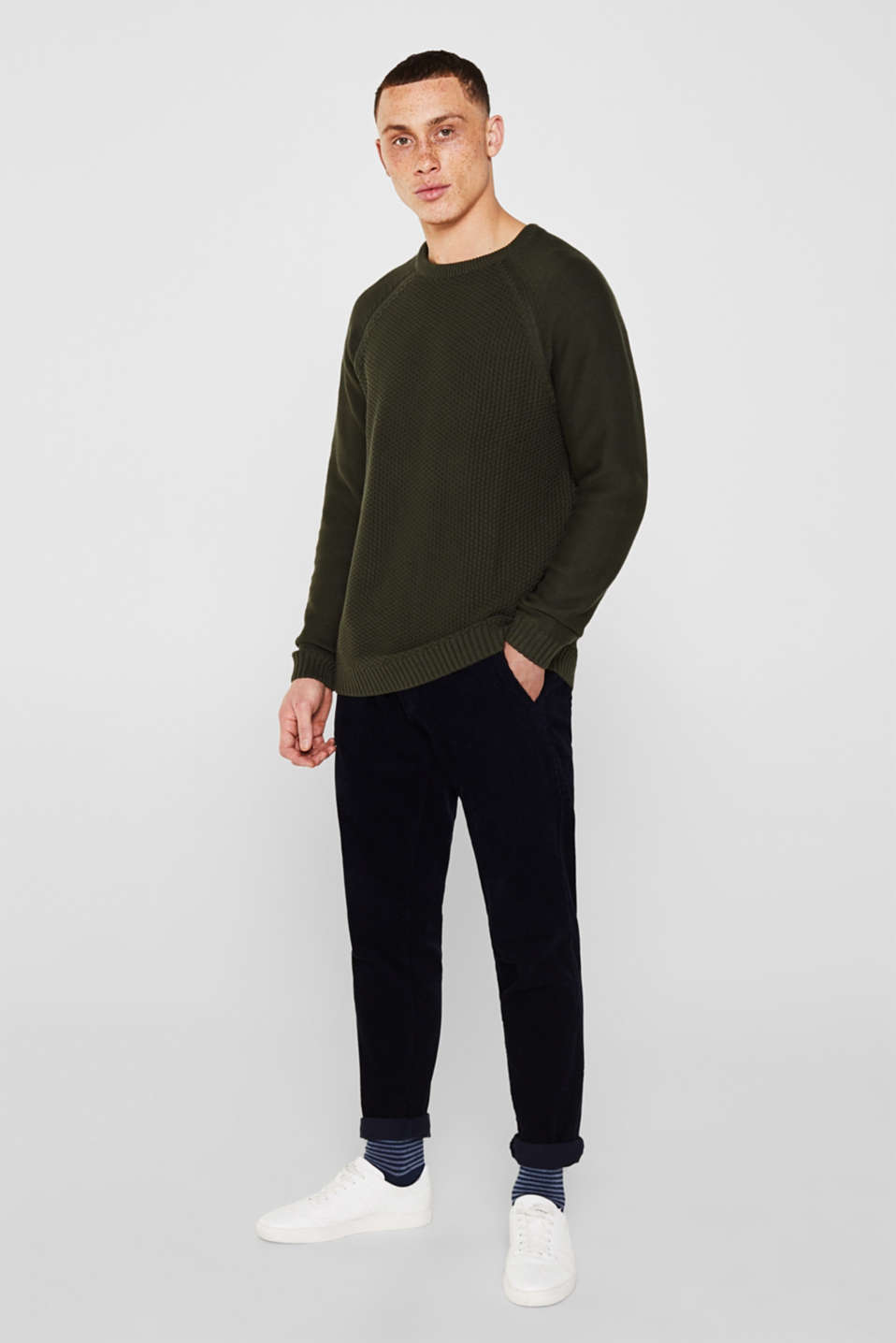 Sweaters, KHAKI GREEN, detail image number 1