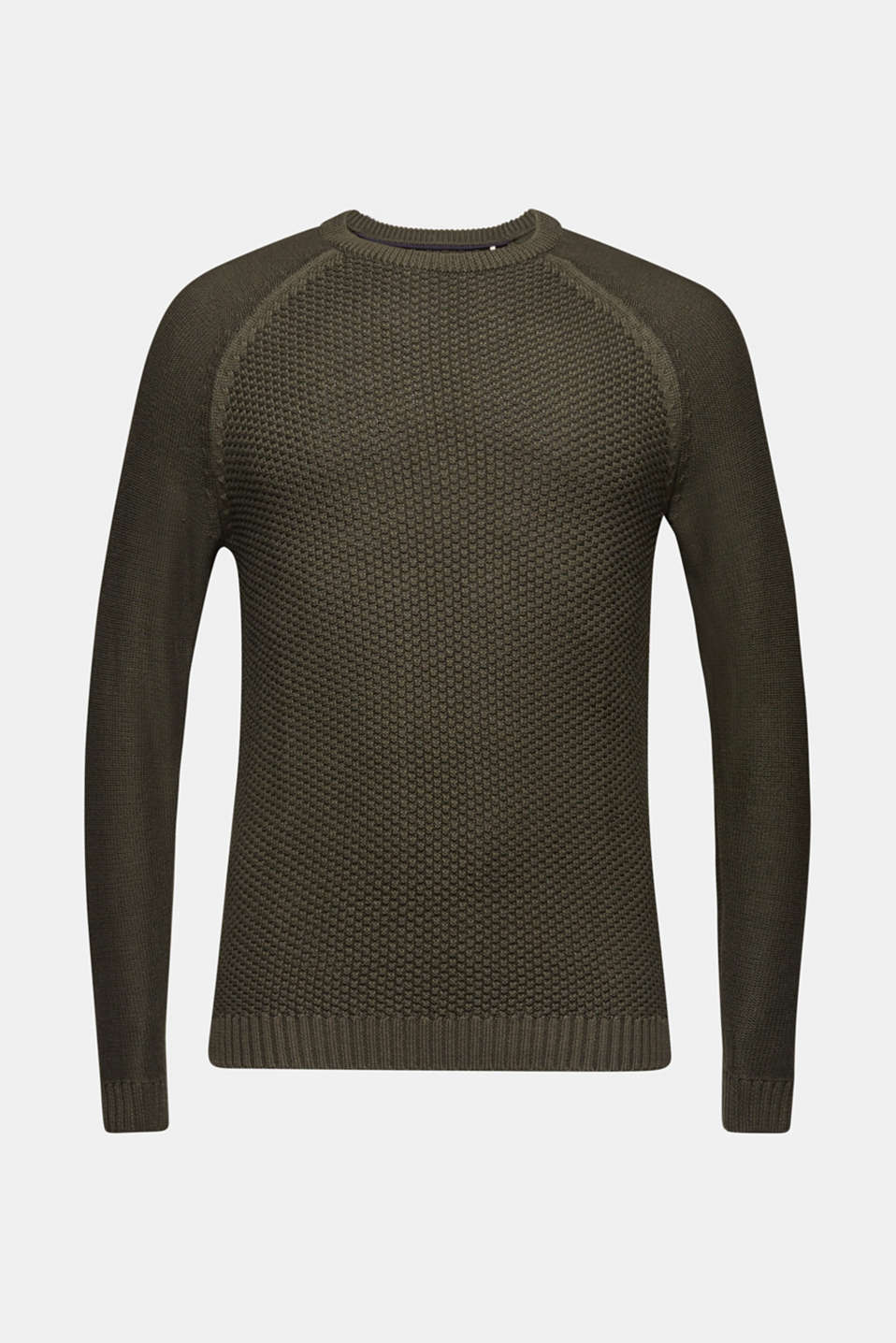 Sweaters, KHAKI GREEN, detail image number 9