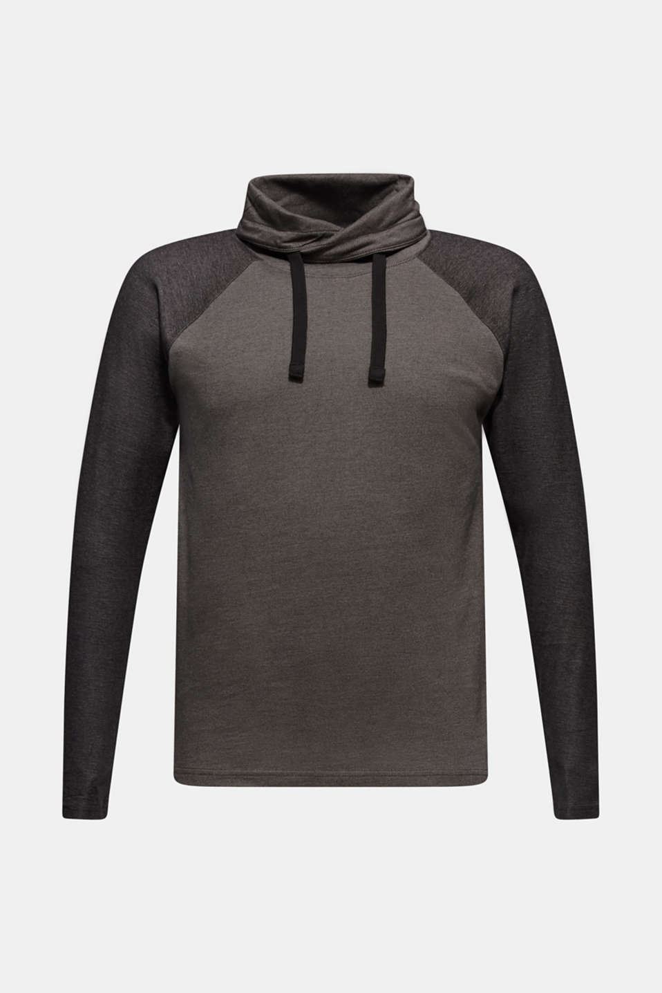 Long sleeve jersey top in 100% cotton, GREY, detail image number 6