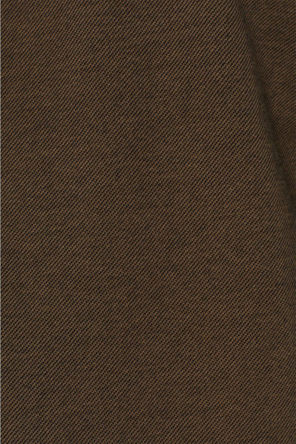 Long sleeve jersey top in 100% cotton, KHAKI GREEN, detail image number 4