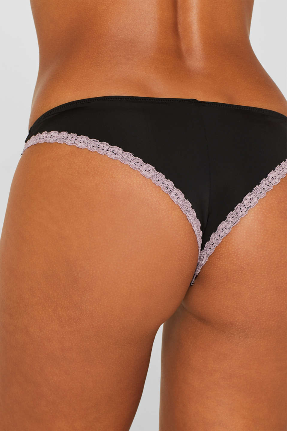 Hipster briefs with lace and contrasts, BLACK, detail image number 1