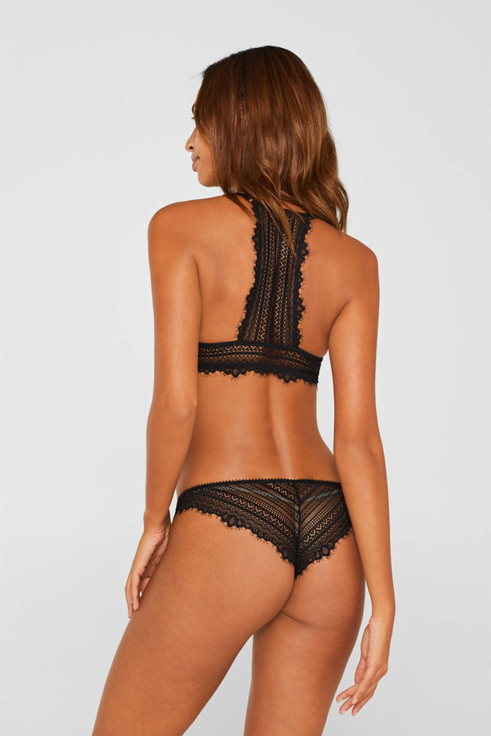 Hipster briefs made of delicate lace, BLACK, detail image number 2