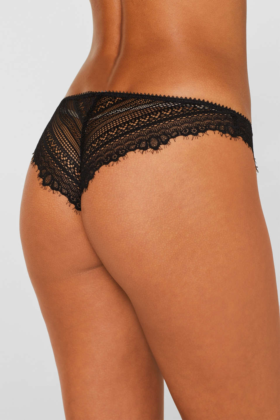 Hipster briefs made of delicate lace, BLACK, detail image number 3