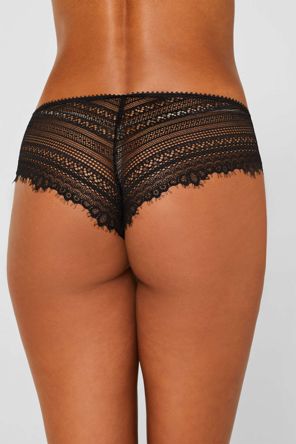 Hipster shorts in delicate lace, BLACK, detail image number 3