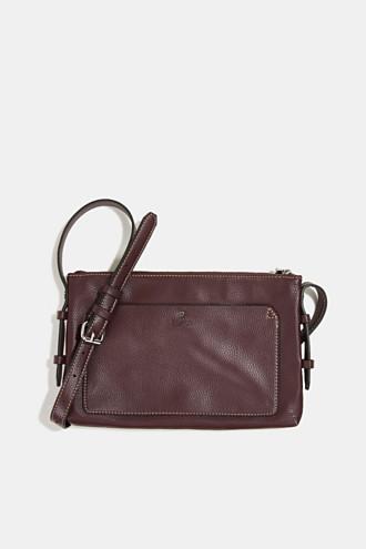 Faux leather shoulder bag, vegan