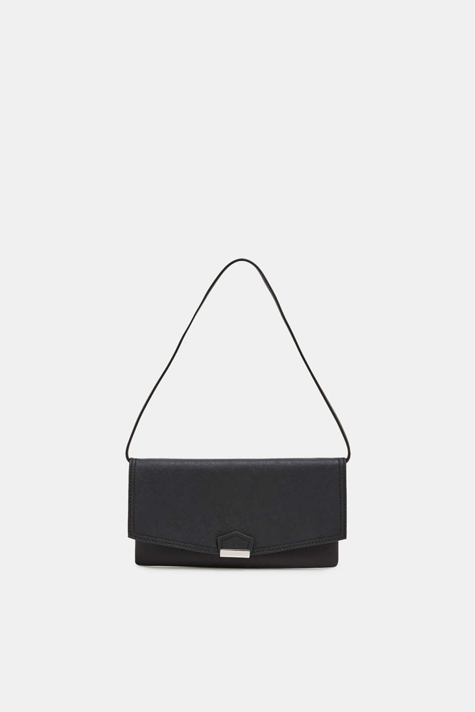 Faux leather clutch, BLACK, detail image number 0